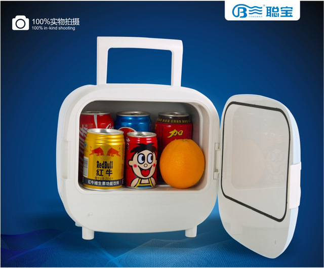 Cong D028 4L Car Refrigerator / Bedroom Dormitory Drugs Skincare Small  Refrigerator / Mini Cute