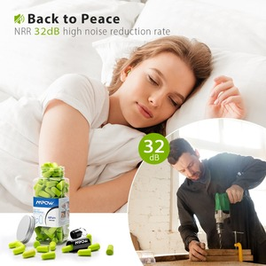 Image 4 - Mpow tapones para los oídos de espuma HP055, 60 pares, bloqueador de ruido/filtro, Protector auditivo, NRR, 32dB, reducción de ruido con Estuche de transporte para dormir