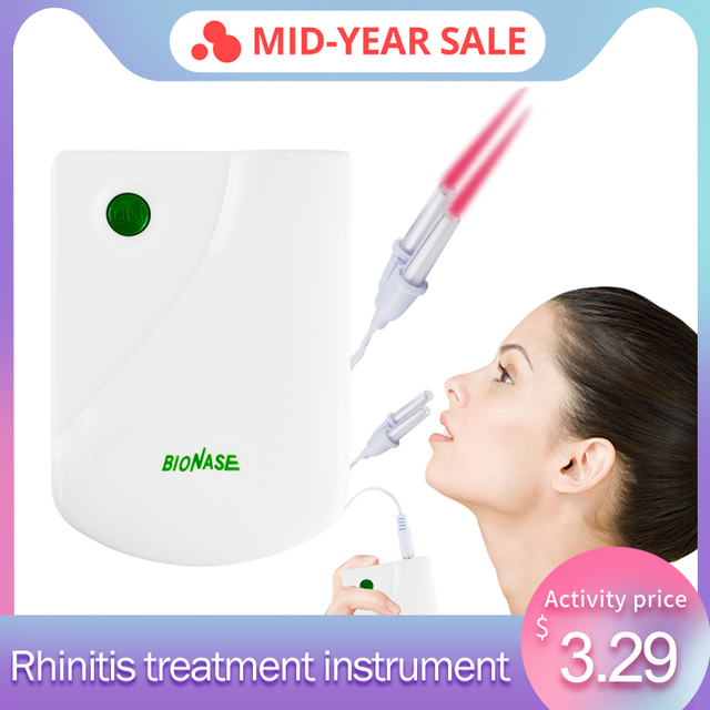 Raiuleko Proxy BioNase Nose Rhinitis Sinusitis Cure Therapy Massage Hay fever Low Frequency Pulse Laser Nose Health Care Machine