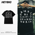 Retro T-shirts old English Text THE FEAR IS A LIAR 2016 Hip hop Street Fashion TEE Hot rap HEYBIG clothing Chinese SIZE S-3XL