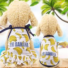 Summer Puppy Dog Cat Clothes Banana Strawberry Pineapple Pet Cat Dress Breathable Mesh Vest T-shirt for Kitten Cat Small Dogs(China)