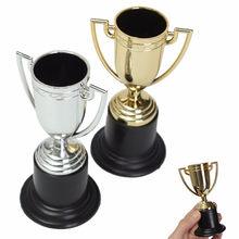 Altın Gümüş 10 cm Mini Gümüş Kupa Futbol Futbol Kupası için Mükemmel Spor Etkinlikleri ve Yarışları Parti Iyilik Doğum Günü partiler