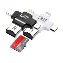 4 в 1 кард-ридер type C Micro USB адаптер Micro SD кард-ридер для iPhone/iPad Smart OTG