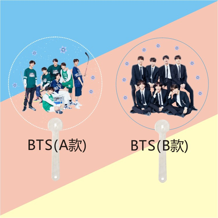 [MYKPOP]BTS Bangtan Boys New Album HD Photo PVC Fan KPOP Transparent Fans Collection SA18061810