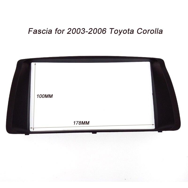 ITYAGUY 2DIN Auto Frame Panel für Toyota Corolla 2003-2006 Adapter CD Trim Schnittstelle Radioeinbau In Dash Mount Kit