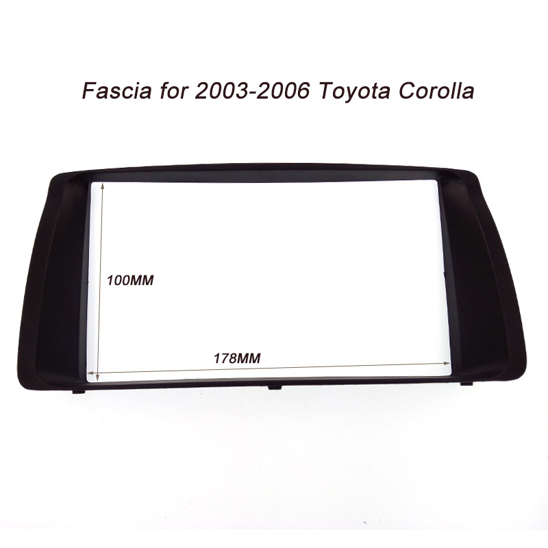ITYAGUY 2DIN Car Frame Panel for Toyota Corolla 2003-2006 Adapter CD Trim Stereo Interface Radio Fascia In Dash Mount Kit