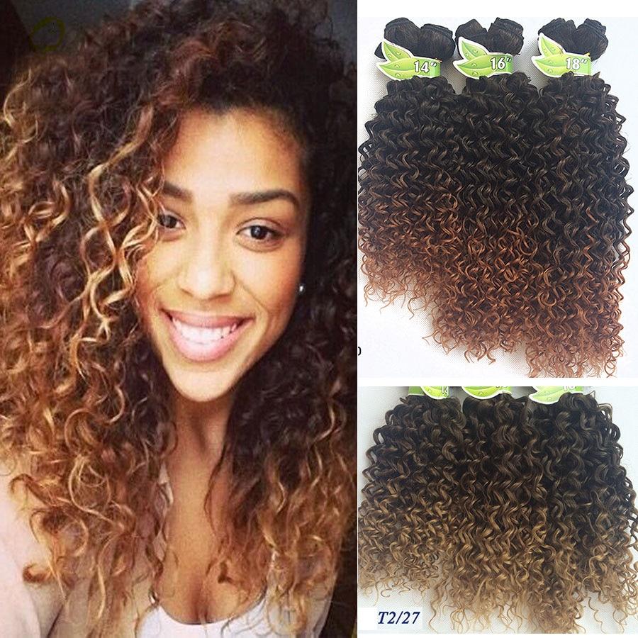 6 Bundles Synthetic Kinky Twist Crochet Braids Hair Blonde And Black