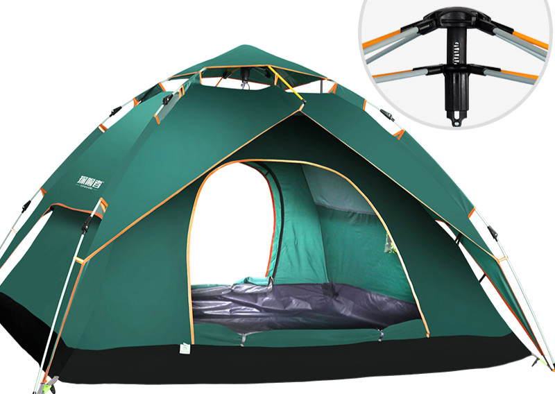 Автоматическая палатка Двойная водонепроницаемая палатка семейный костюм туристические палатки Открытый Туризм пляж путешествия надувной матрас