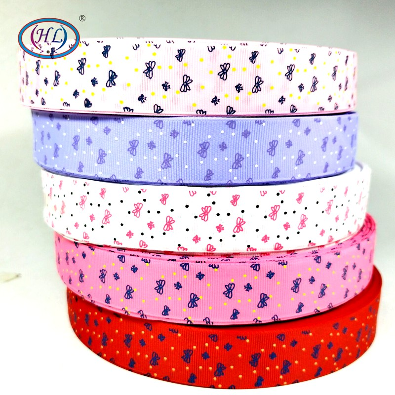 "HL 1"" 5 meters/lot Butterfly Grosgrain Ribbons Apparel Sewing Accessories DIY Gift Box Packing Wedding Party Decorative"