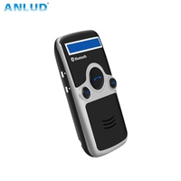 ANLUD A6 Solar Wireless Handsfree Bluetooth Car Kit Fm Stereo Transmitter LED Name Display Automatic Answer Audio Speakerphone