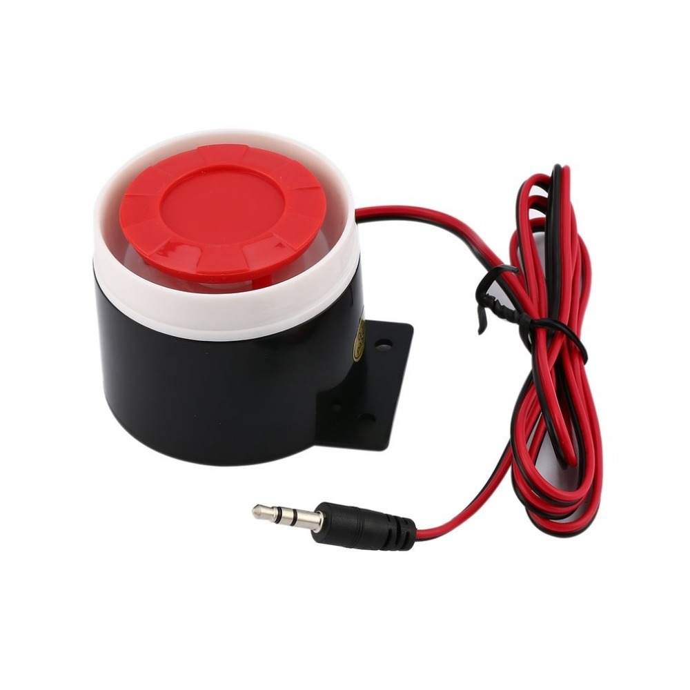 DC 12V Mini Wired Siren Horn Security Anti-Theft Alarm Horn 120dB Loudly Siren For Wireless Home Alarm Security System sfu1605 16mm 1605 ball screw rolled c7 ballscrew sfu1605 350mm with one 1600 flange single ball nut for cnc parts and machine