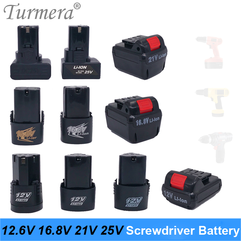 12v 16.8v 21v 25v screwdriver lithium battery electric drill battery Cordless screwdriver charger battery for power tools|Replacement Batteries| |  - title=