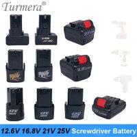 Bateria de furadeira elétrica sem fio  bateria de furadeira elétrica 12.6v 16.8v 21v 25v  substituição para 3s 4S 5S 6s bateria para ferramenta elétrica