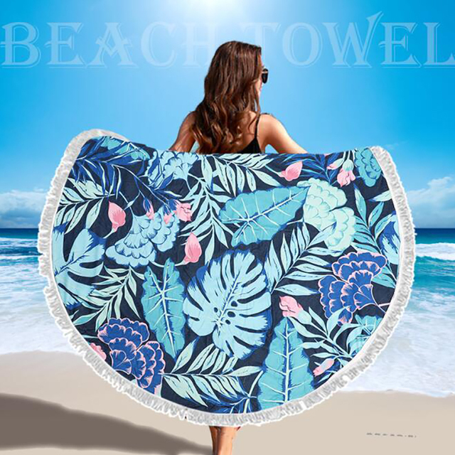 SDARISB Microfiber Fabric Bath Towel Round Beach Towel Wholesalers Large Towel Wholesalers Watermelon Lemon Vacation Products 4