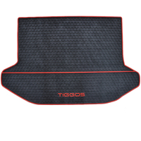 free ship green rubber car trunk mats for chery Tiggo 5 pad aft tail water resistant latex carpets