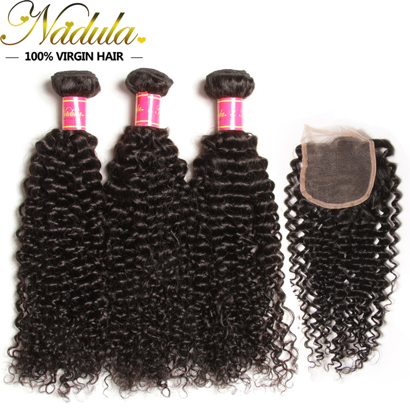 Brazilian Curly Virgin Hair with closure 3Bundles Free/MID/3 Part Brazilian Virgin Hair Cheap Brazilian Hair Weave Bundles