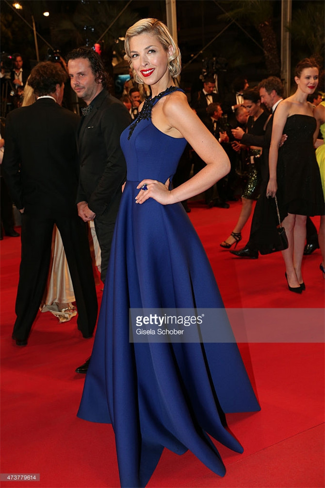 2015 Cannes Red Carpet Celebrity Dresses Eleonore Boccara Royal Blue Famous  Long Beaded Appliques Ruched Imitation Evening Gowns-in Celebrity-Inspired  ... 0bda4a1b491f