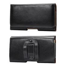 Мобильный пояс чехол Натуральная кожа для Sony Xperia Z4 чехол из натуральной кожи Горизонтальное Зажим для ремня чехол Универсальный телефон сумка