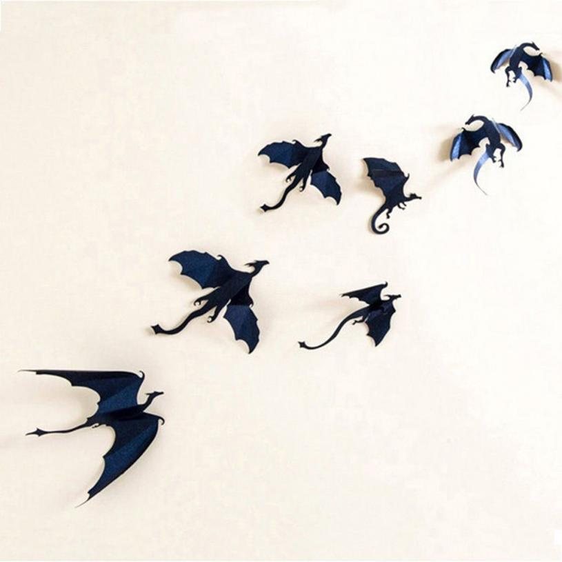 Home Decor Decorative Films Lot Halloween Gothic Stickers Game Power Limited 3d Dragon Decoration Drop Shipping 2sw0727 Energetic 7pcs