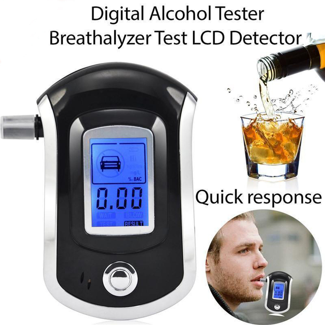 Breath Alcohol Testing Tester Analyzer Detector Alcohol Test LCD Digital Police Breathalyzer Blow Alcohol Content Tester Display