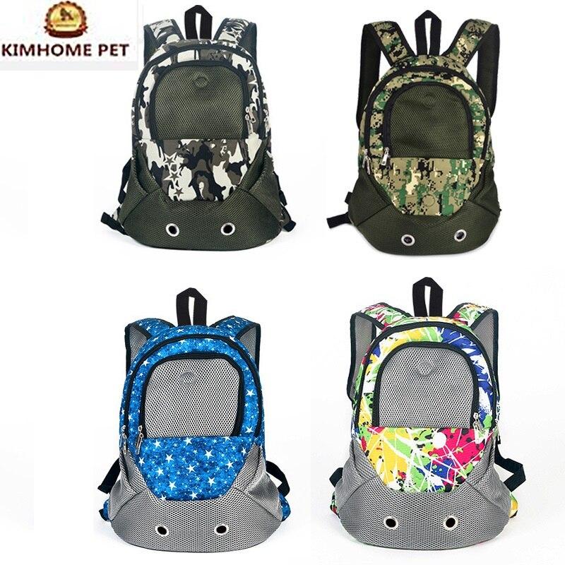 2017 Pet Carrier Shoulders Back Front Pack Dog Cat Travel Bag Mesh Backpack Head out Design Travel Adjustable Shoulder Strap