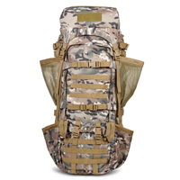 110L Tactical Outdoor Bags 900D Nylon Camping Hiking Equipment Mountain Climbing Backpack Aluminum Alloy U Bracket