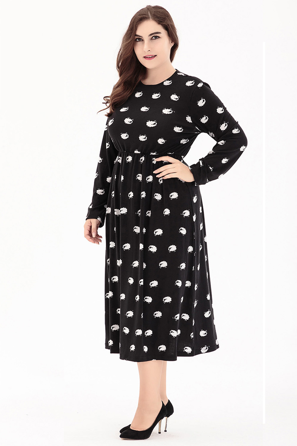 ec1c80144eb Large Size 6XL Autumn Dress 2018 Plus Size Midi Dress Casual knitting Loose  Dresses Plus Size 5XL Women Clothing Big Sizes 4XL-in Dresses from Women s  ...