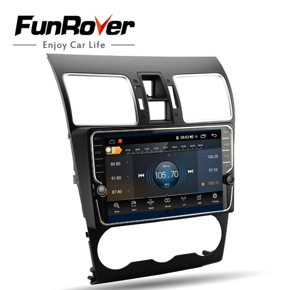Funrover octa core android 8,1 dvd мультимедиа плеер для Subaru Forester XV WRX 2012-2018 радио gps 4 г + 64 разделение экран DSP