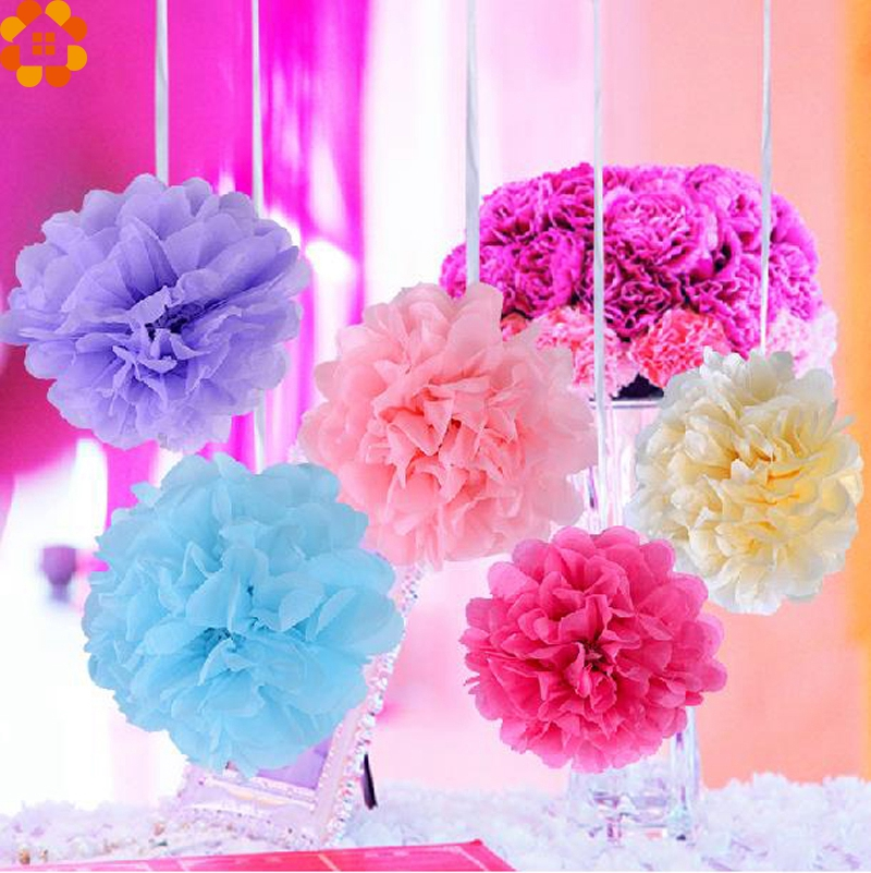 buy tissue paper flowers For a beautiful finish to gift bags or tissue paper flowers and other crafts, buy hallmark tissue paper in solids, polka dots, chevrons and other patterns.