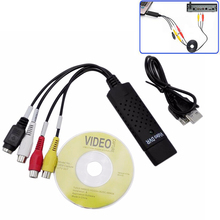 Portable Easy Cap USB 2.0 Video Capture Card Adapter VHS to DVD Video Capture Converter TV Tuner Cards For Win7/8/XP/Vista P0.11 1pc usb to rs485 usb 485 converter adapter support for win7 xp vista for linux for mac os