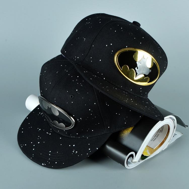 Free shipping 2015 Fashion Cartoon Snapback Caps Batman Hip-Hop hat Spring and summer sun Benn baseball cap
