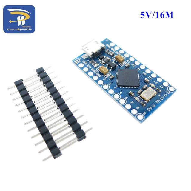 Nuovo Pro Micro per arduino ATmega32U4 5 V/16 MHz Modulo con 2 riga di intestazione pin Per Leonardo migliore qualità