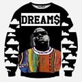 Hip Hop Fashion Men Women sweatshirt Dreams Cartoon Men 3D Printed Bardian Long Sleeved Hoody Casual Pullover Tracksuit