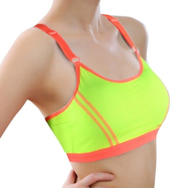 fa50d1abb5e11 Women Bra Girl Fitness Racerback Bra Seamless Padded Stretch Workout Push  Up Bra Tank Top