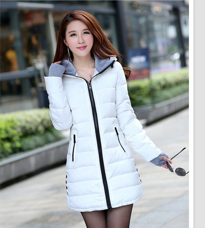 ФОТО wadded jacket female 2016 new women's winter jacket down cotton jacket slim parkas ladies coat plus size XS-XXL