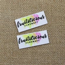 132 pieces Custom logo labels, Name iron on label, Custom Clothing tags, Organic Cotton Labels 50 nifty iron on quilt labels