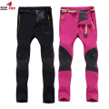 winter Autumn women Men Pant Outwear Waterproof Soft Shell fleece Pant brand clothing Splice Trousers M~4XL