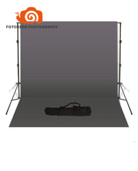 Professional hot sale photography Studio accessories,2m*3m Background Support stand +10 x 20 Grey Backdrop+one Black Carry Bag