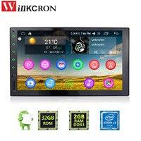 Best 7 Универсальный Аудиомагнитолы автомобильные стерео GPS 2 ГБ + 32 ГБ Android 6.0 3G Wi Fi Bluetooth Радио Автомобильная quad шнур HD мультимедийный плеер