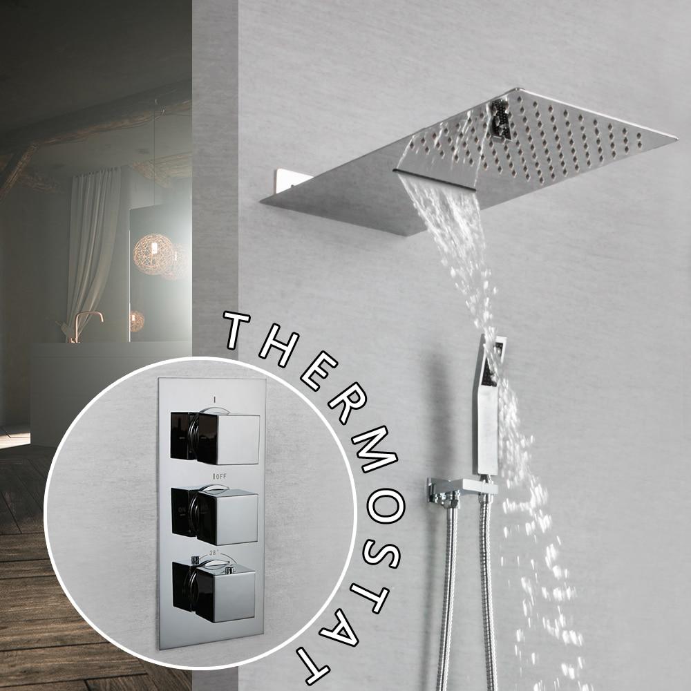 Shower Equipment Frap Shower Faucets Bath Shower Head Set Mixer Bathroom Shower Faucet Bathroom Waterfall Rain Shower Panel Bath Faucet Tap 100% Original