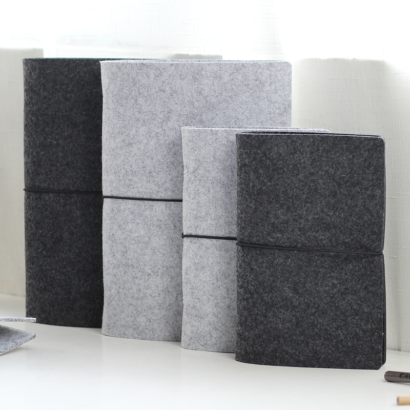Office & School Supp. ...  ... 32813826412 ... 2 ... JIANWU Felt shell  fabric note book loose leaf inner core  A6, A7 notebook diary  A5 plan binder  office supplies  ring binder ...