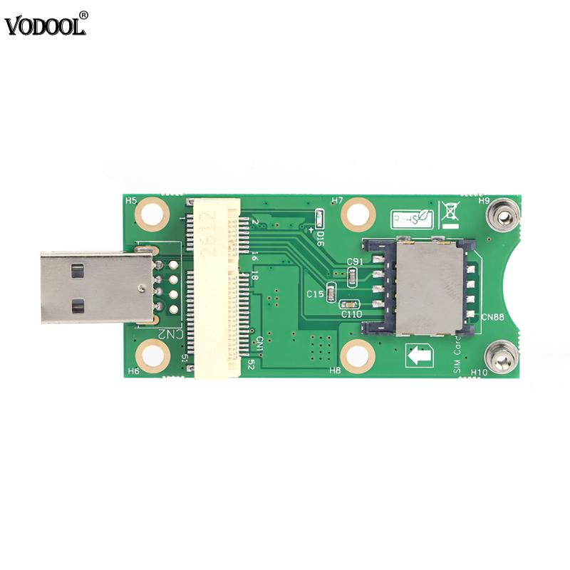 Mini PCI-E to USB Adapter with SIM 8 Pin/ 6Pin Card Slot for WWAN/LTE Module Wireless Mini-Card to USB Port for Desktop System pci e to