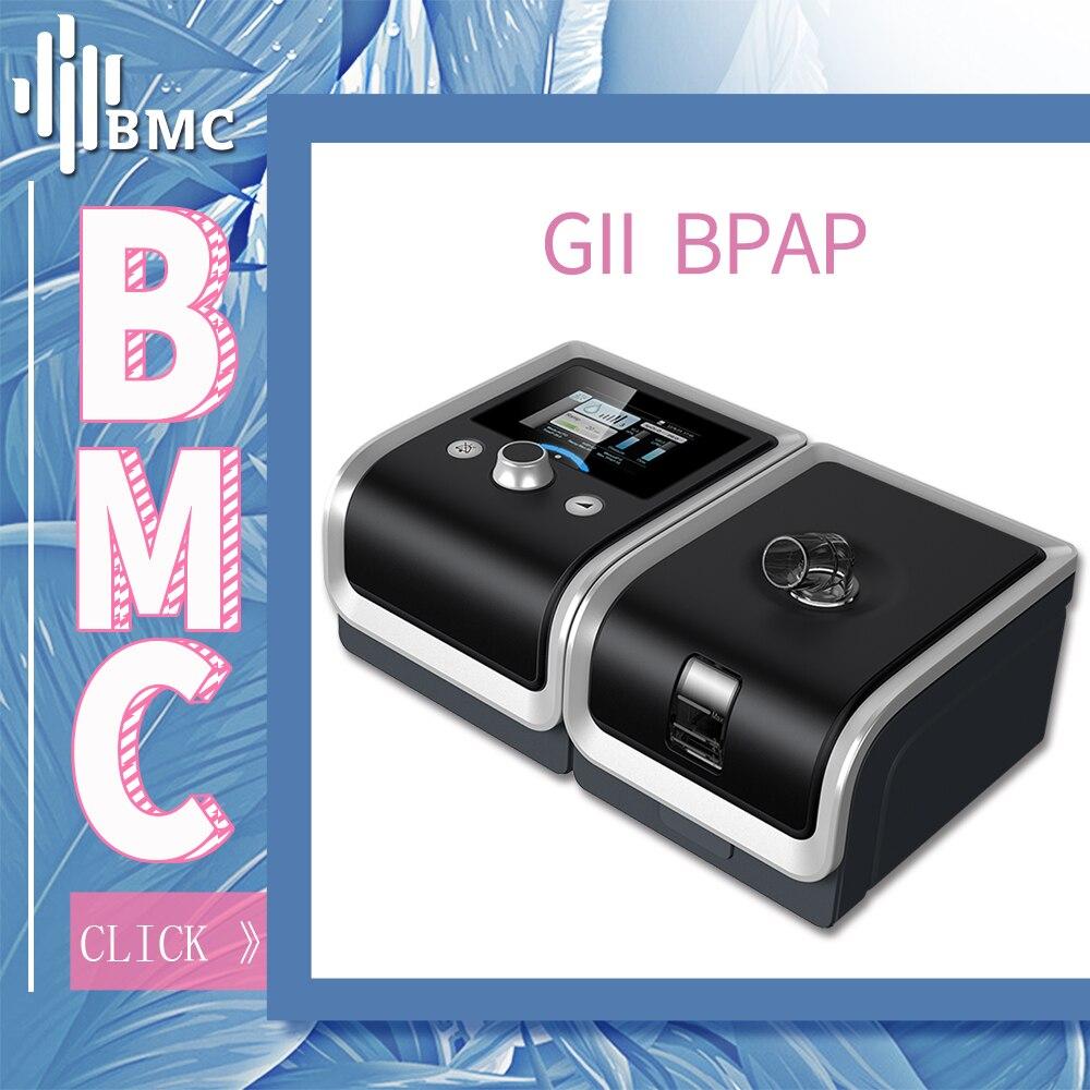 BMC GII BPAP T-25A/25 t/30 t Thérapie L'apnée Du MPOC Avec Du Bout Des Doigts Oxymètre de Pouls Plein Visage Masque en plastique Tuyau Humidificateur