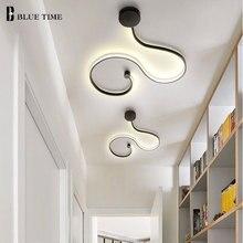 Einfache, Moderne LED Decke Licht Schwarz & Weiß Körper Lüster Led Decke Lampe Wohnzimmer Schlafzimmer Neben zimmer Leuchte AC110V 220V