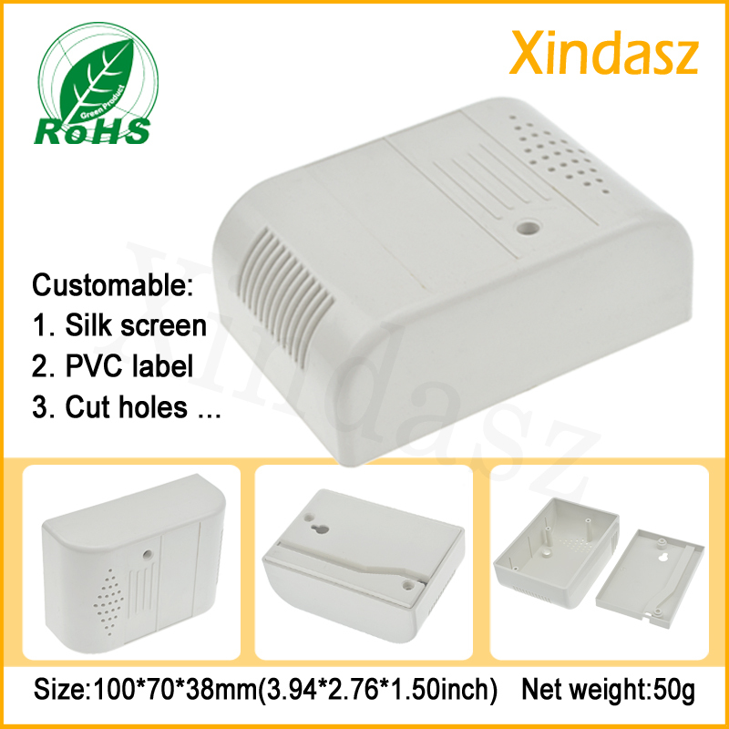 (XD0104091)100*70*38mm Special electronic plastic shell plastic case shell smoke alarm sensor housing smoke alarm shell
