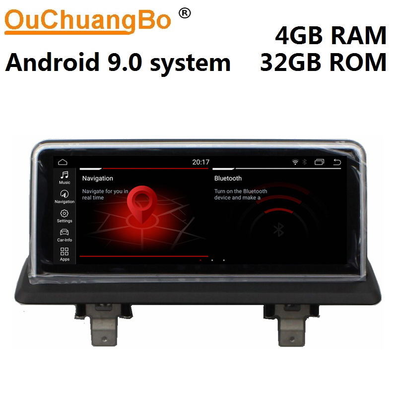 Ouchuangbo radio gps media player recorder for <font><b>E87</b></font> 2005-2012 with mirror link <font><b>android</b></font> <font><b>9.0</b></font> 6 core 4GB+32GB image