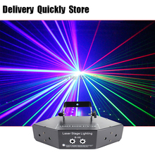 Fast delivery RGB Laser image Lines Beam Scans DMX DJ Dance Bar Coffee Xmas Home Party Disco Effect Lighting Light System Show 6w rgb laser 3d animation scanner projector ilda dmx dance bar xmas party disco dj effect light stage lights show system