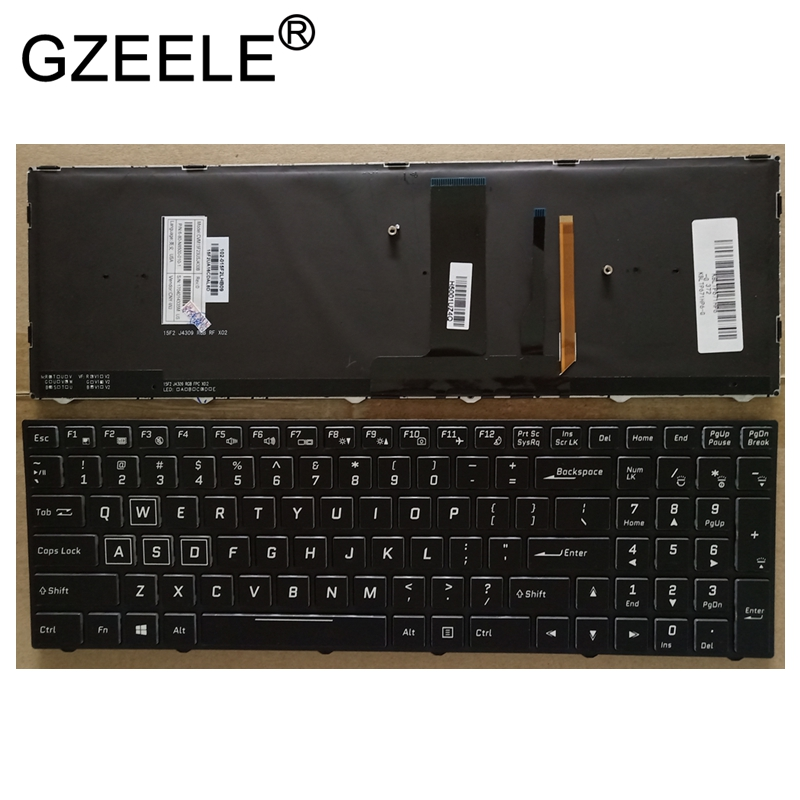 GZEELE US laptop Keyboard For Clevo P670HS-G P671HS-G P670HP6-G Backlit with backlight
