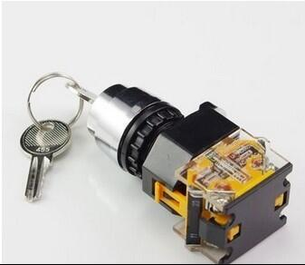 Lights & Lighting Dashing Key Switch 1 No 1 Nc Electronic Key Lock Switch 2 Position Rotary Switch With Keys La38-11y2