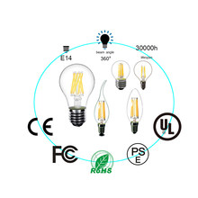 LED Edison Bulb E27 220V 230V 250V Filament Light Retro Vintage LED Bulb E14 Glass Bulb Lamp Candle Light Lamp Filament Light(China)